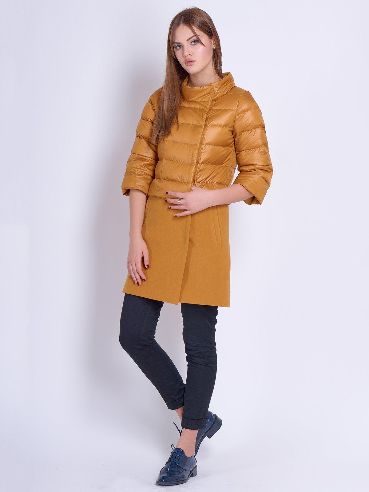 Куртка-пальто гірчичного кольору | 2107007 | фото 2