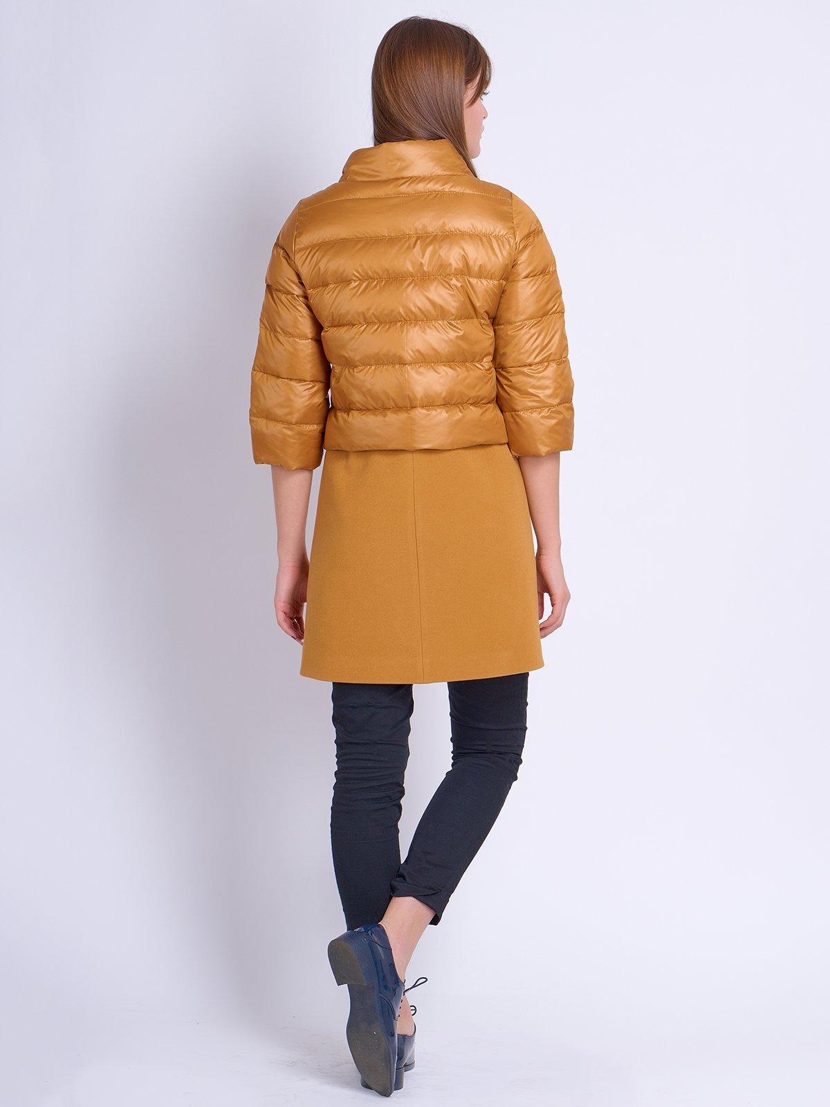 Куртка-пальто гірчичного кольору | 2107007 | фото 3