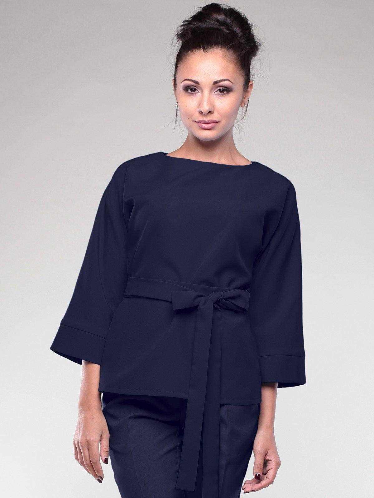 Блуза темно-синяя | 2111009