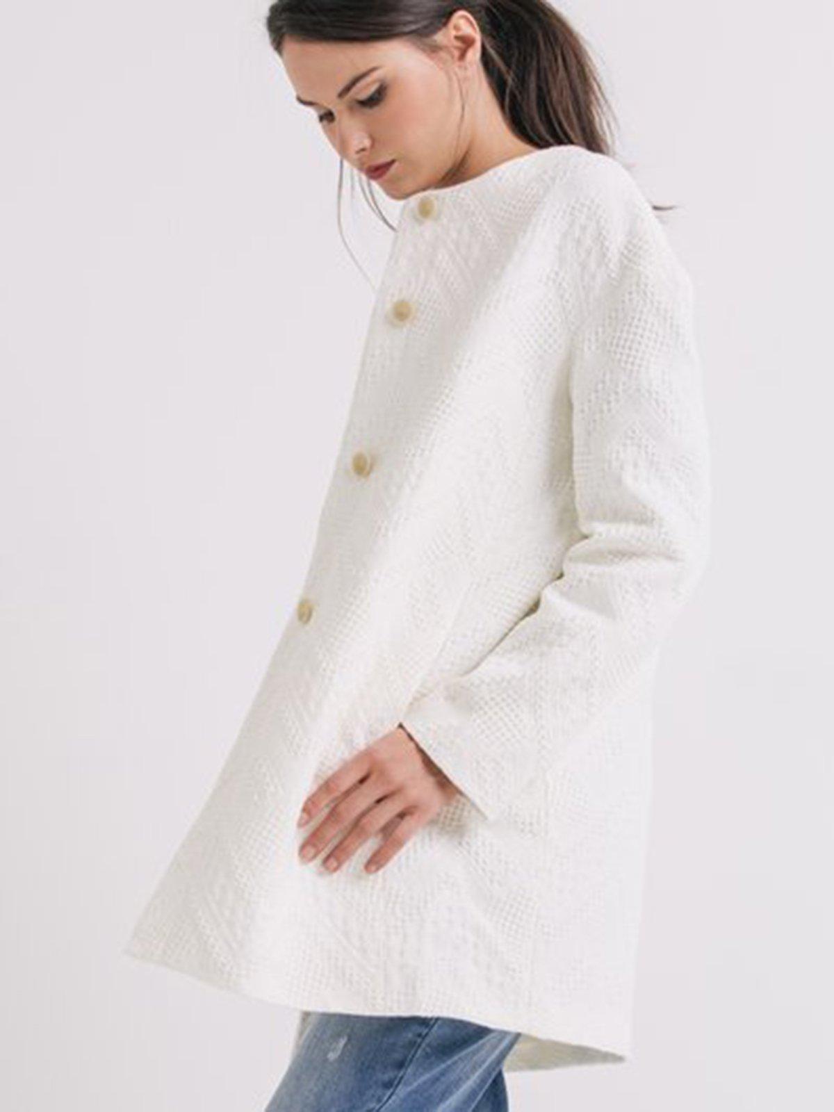 Пальто біле  в малюнок | 2138971