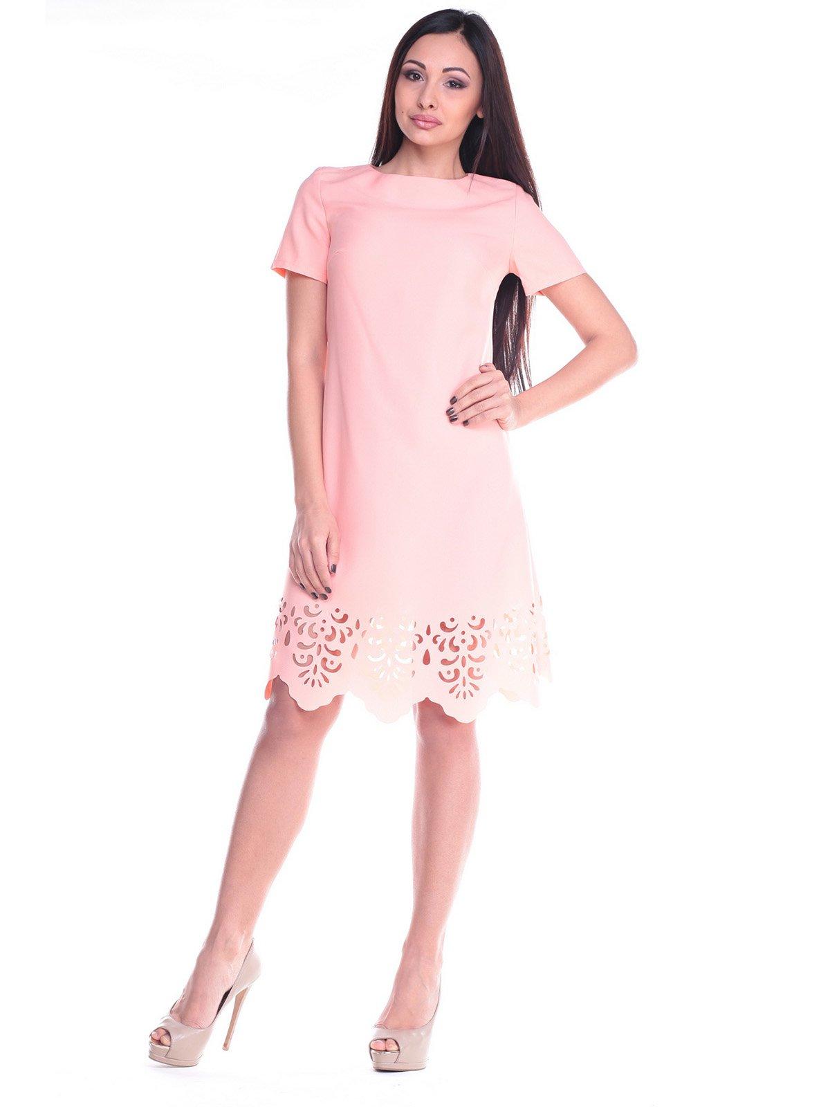 Платье персиковое | 2168470