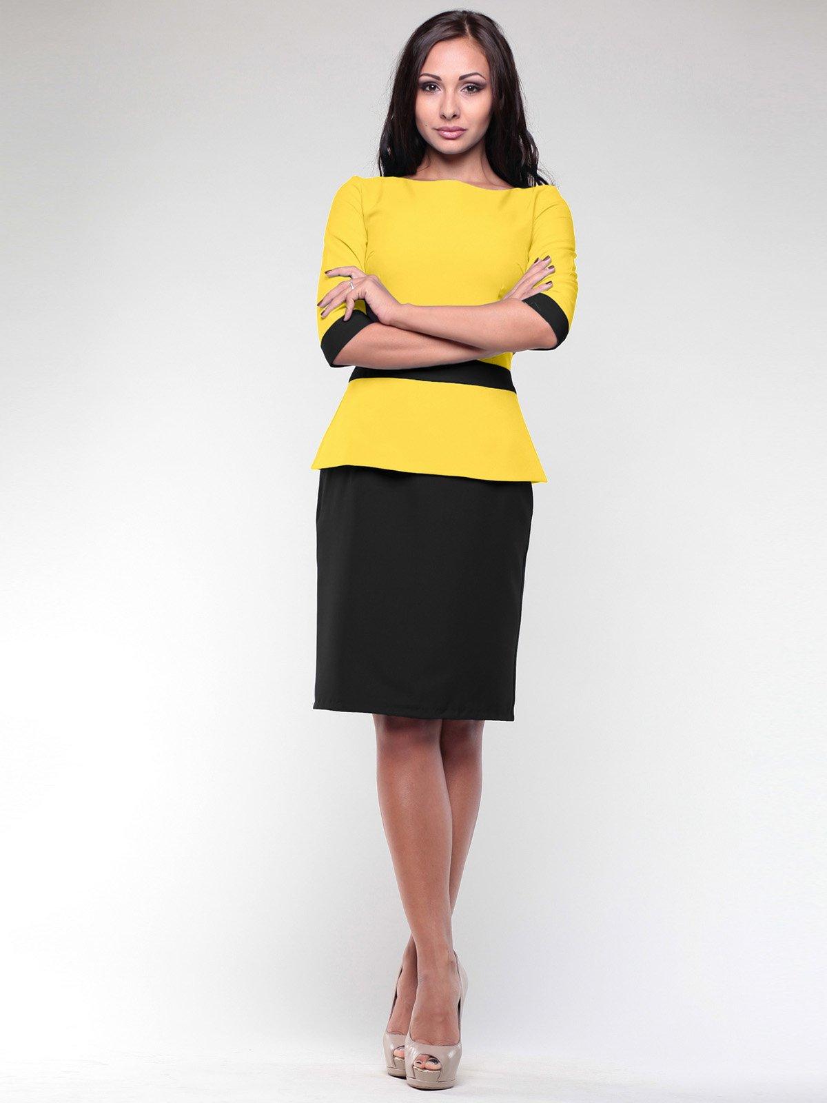 Платье желто-черное | 2170370