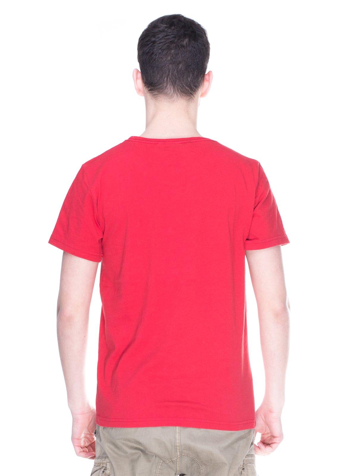 Футболка червона з принтом | 2193082 | фото 2