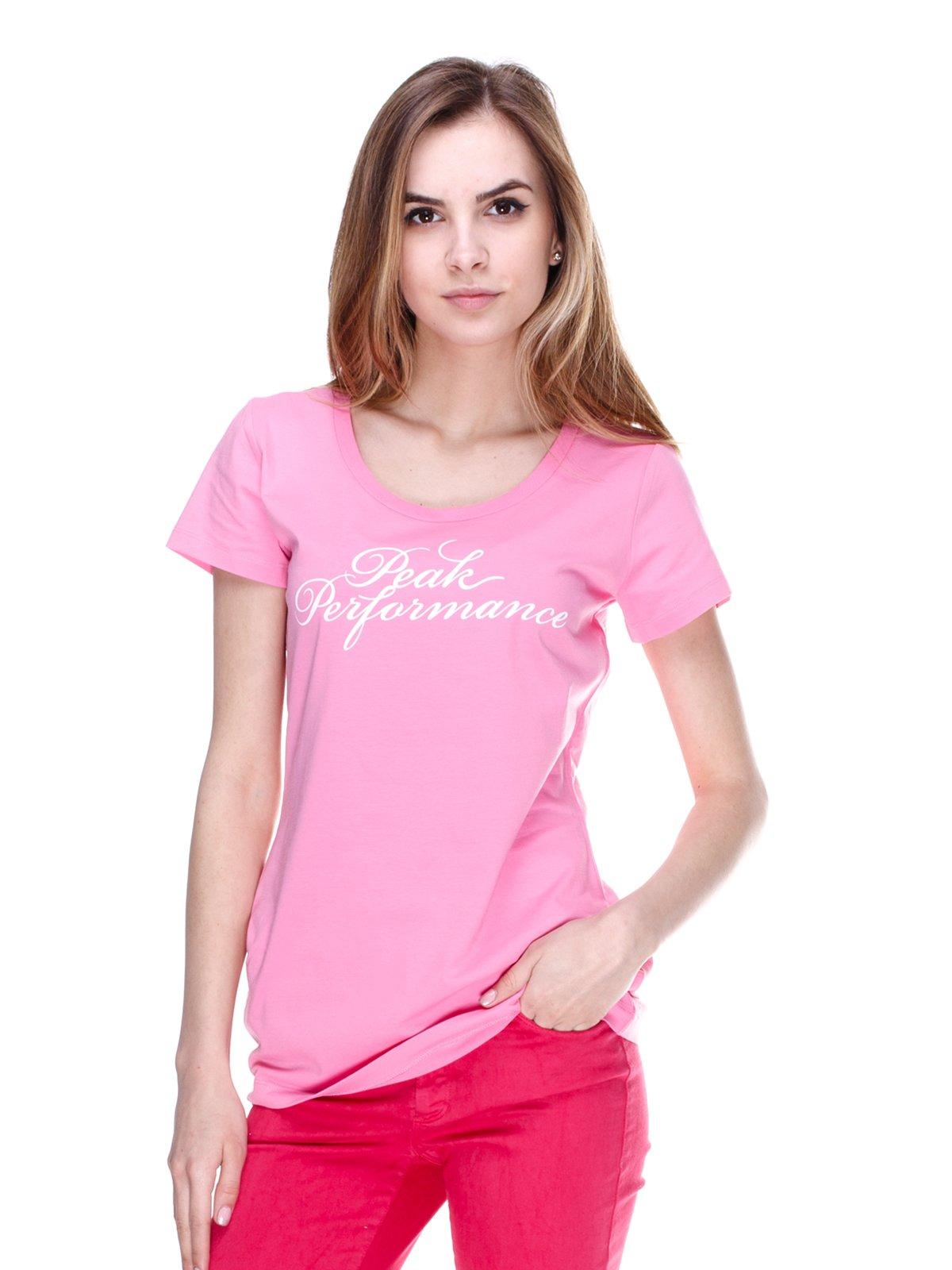 Футболка рожева з написом | 2193078
