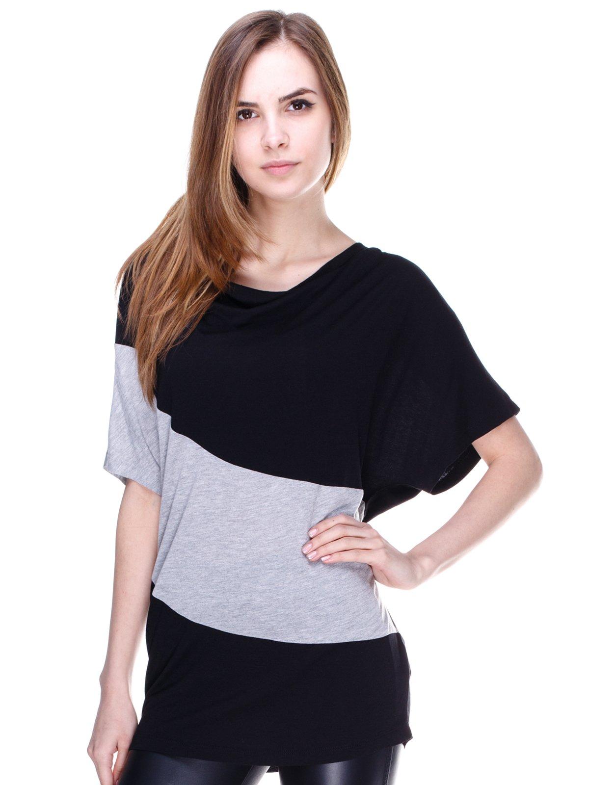 Блуза черно-серая | 2192988