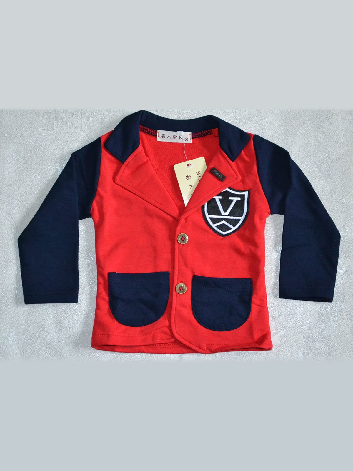 Піджак червоно-синій | 2202414