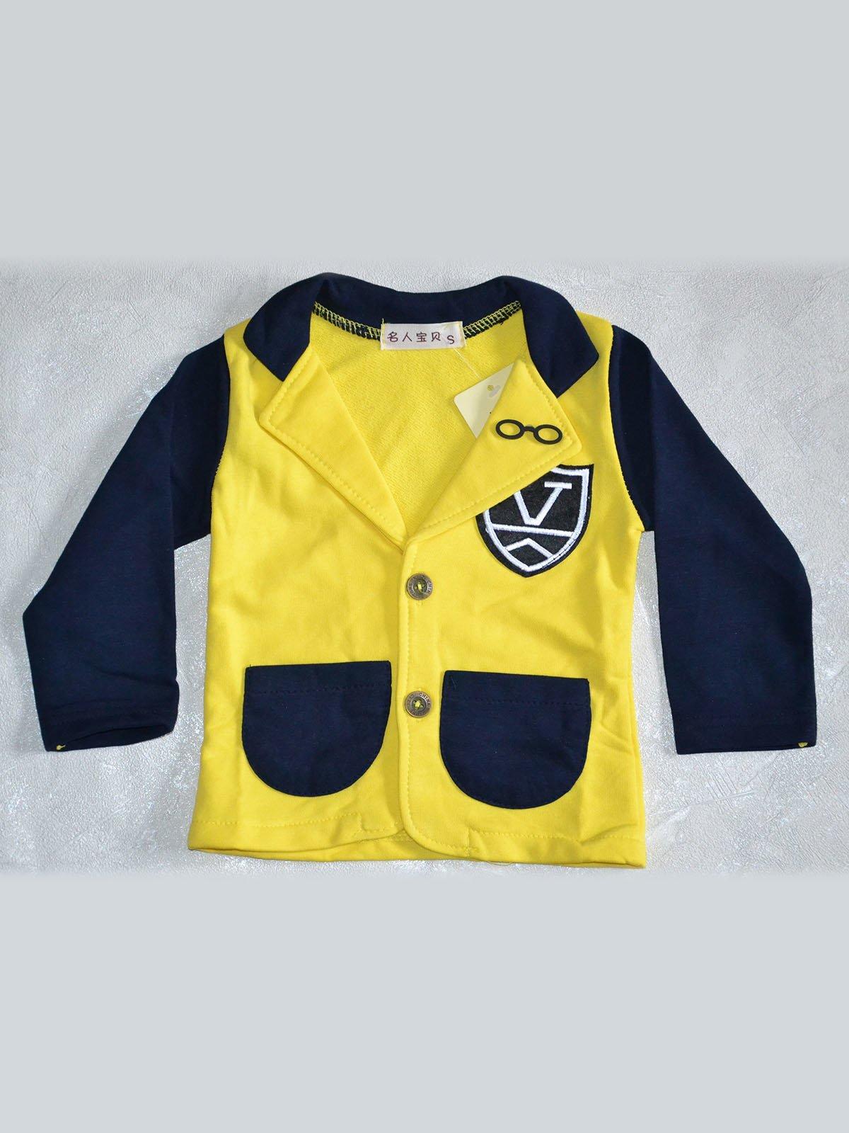 Піджак жовто-синій | 2202417