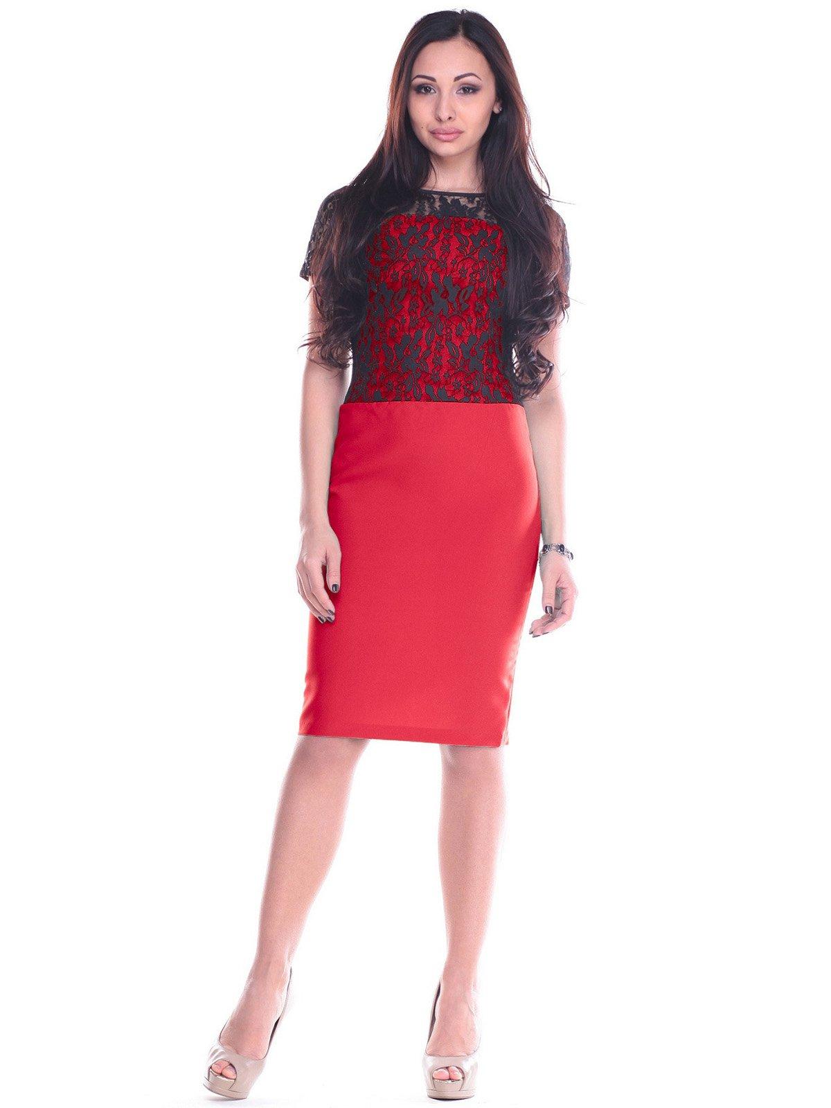 Платье красно-черное | 2199658
