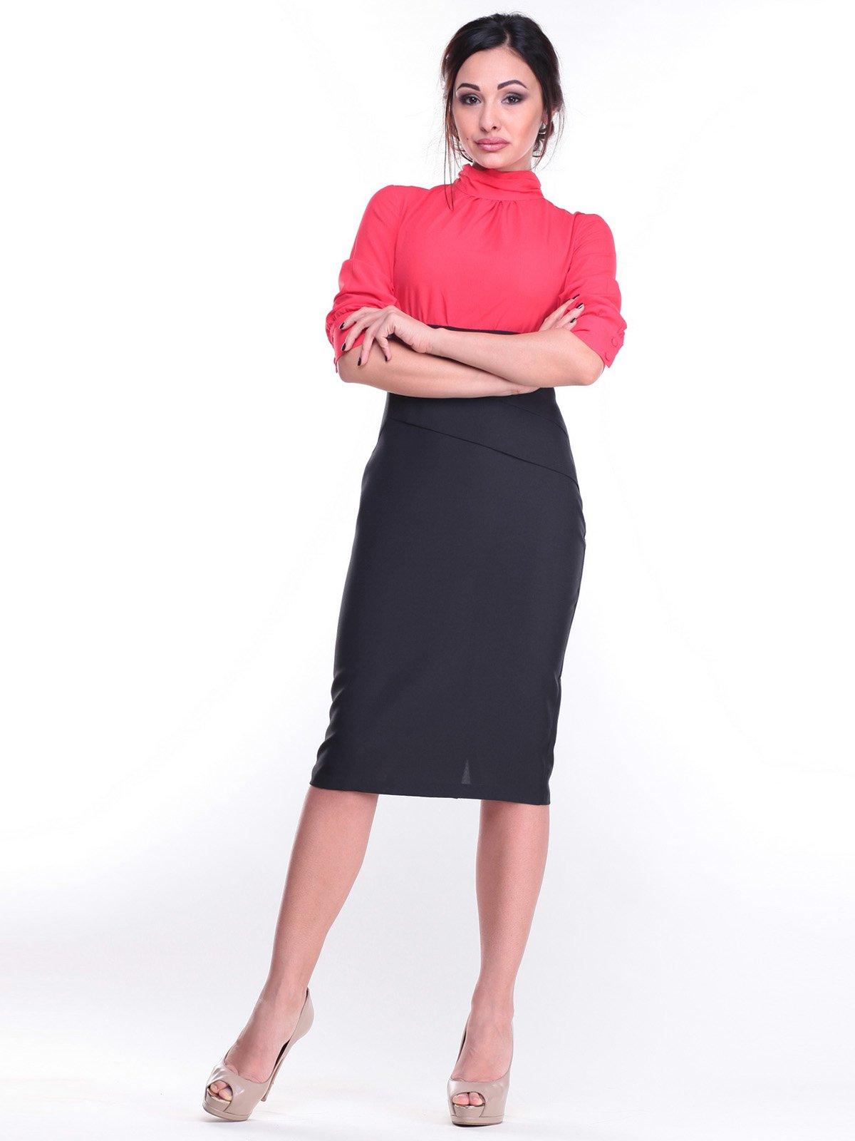 Сукня коралово-чорного кольору | 2212309