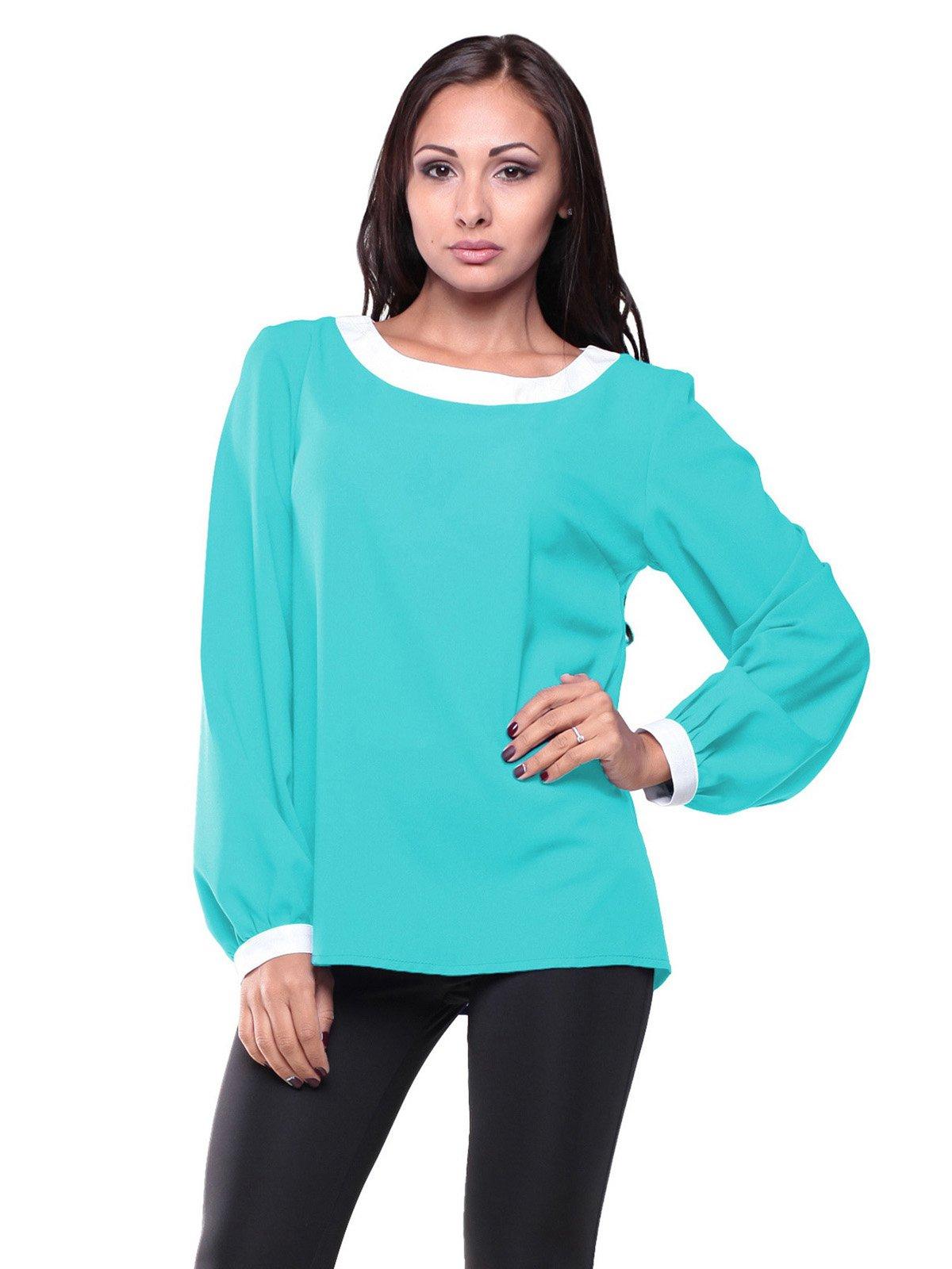 Блуза ментолового цвета   2213013