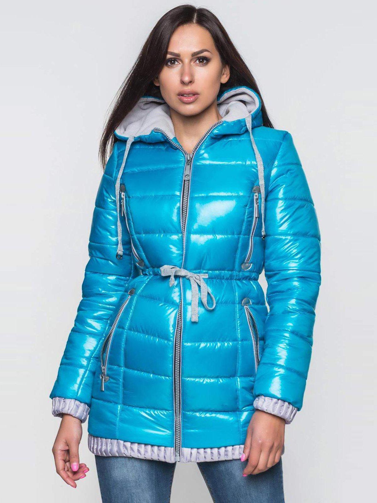 Пальто бирюзовое | 2247115