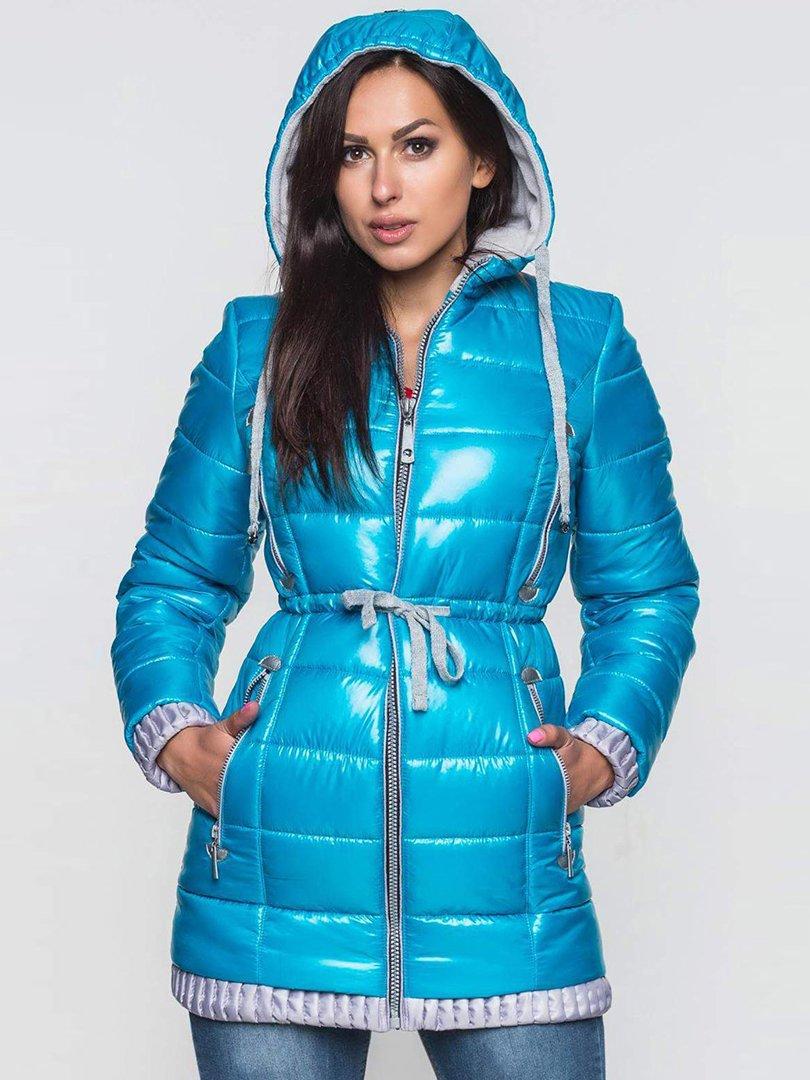 Пальто бирюзовое | 2247115 | фото 2