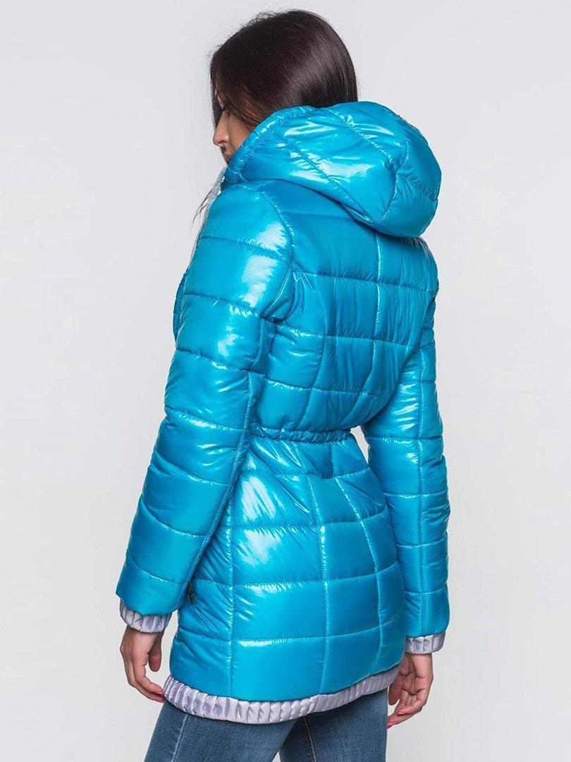 Пальто бирюзовое | 2247115 | фото 3