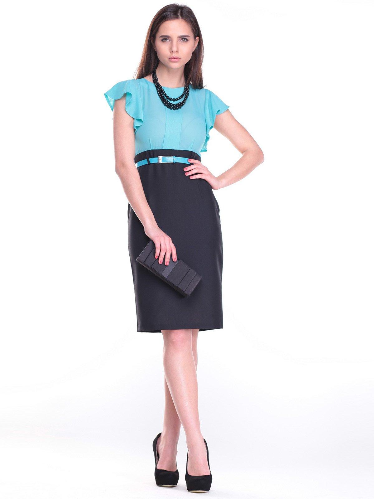 Платье черно-голубое | 2257364