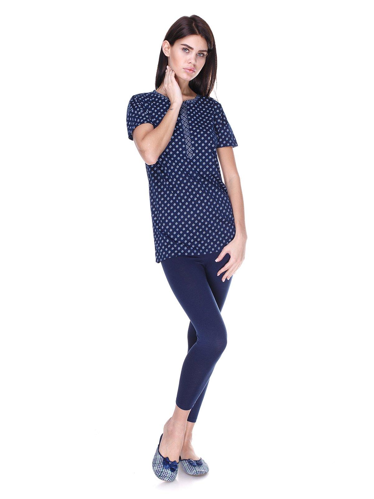Пижама: футболка и капри | 1919257