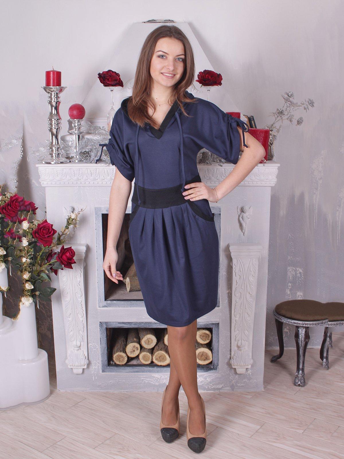 Платье синее с черными вставками   2278922