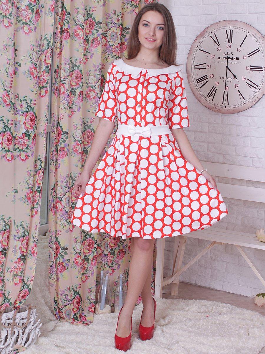 Платье красное в горох | 2279029