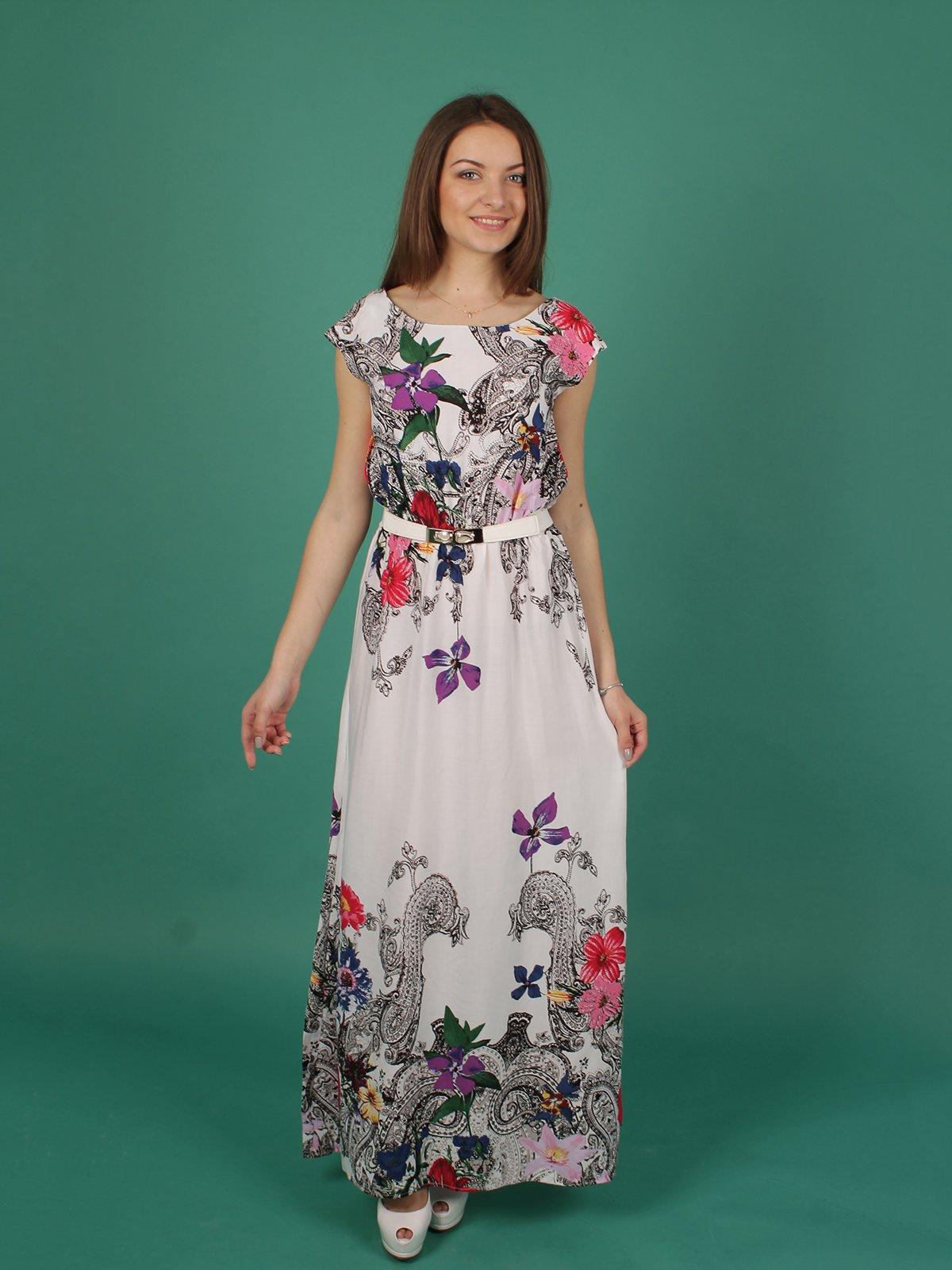 Платье белое в принт | 2279065