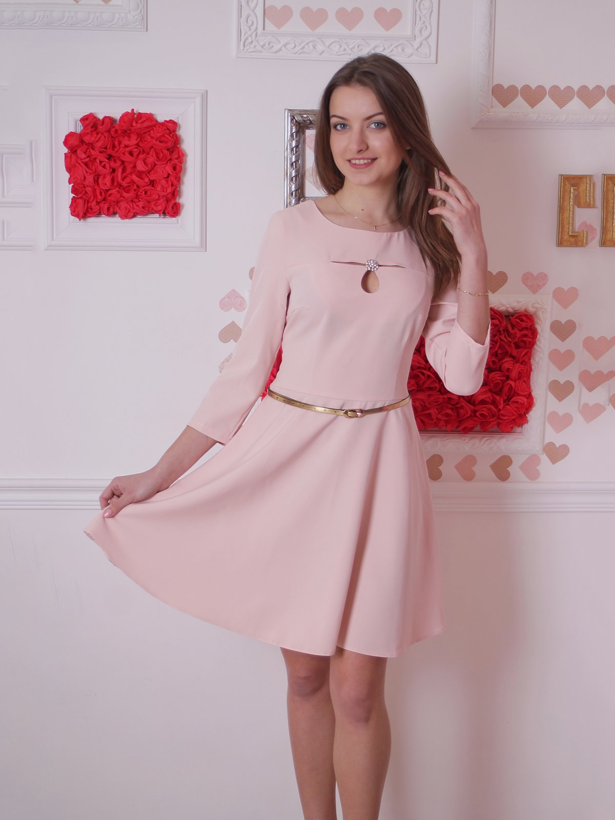 Платье персикового цвета | 2279079