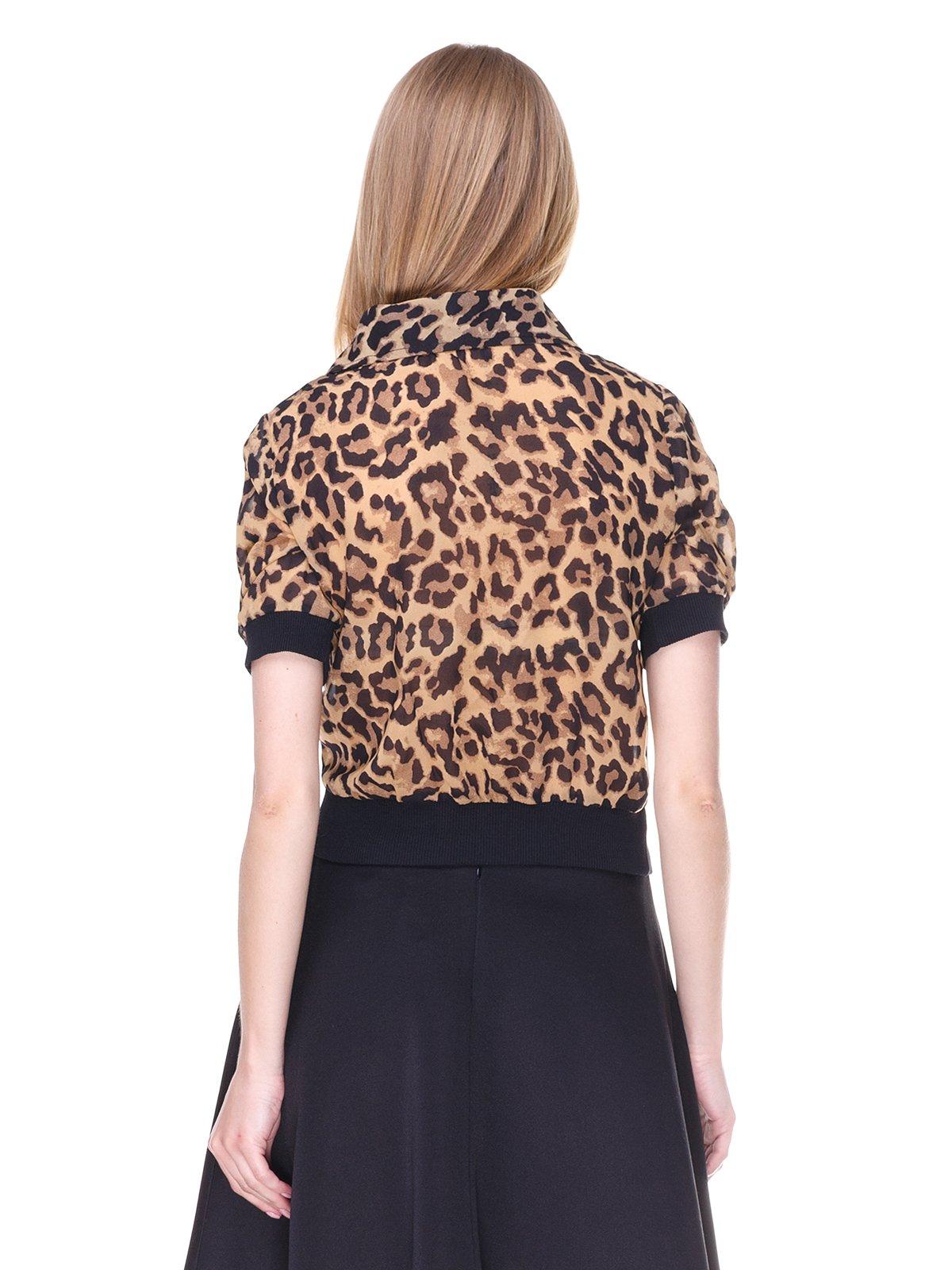Блуза коричневая с анималистическим принтом | 2273967 | фото 2