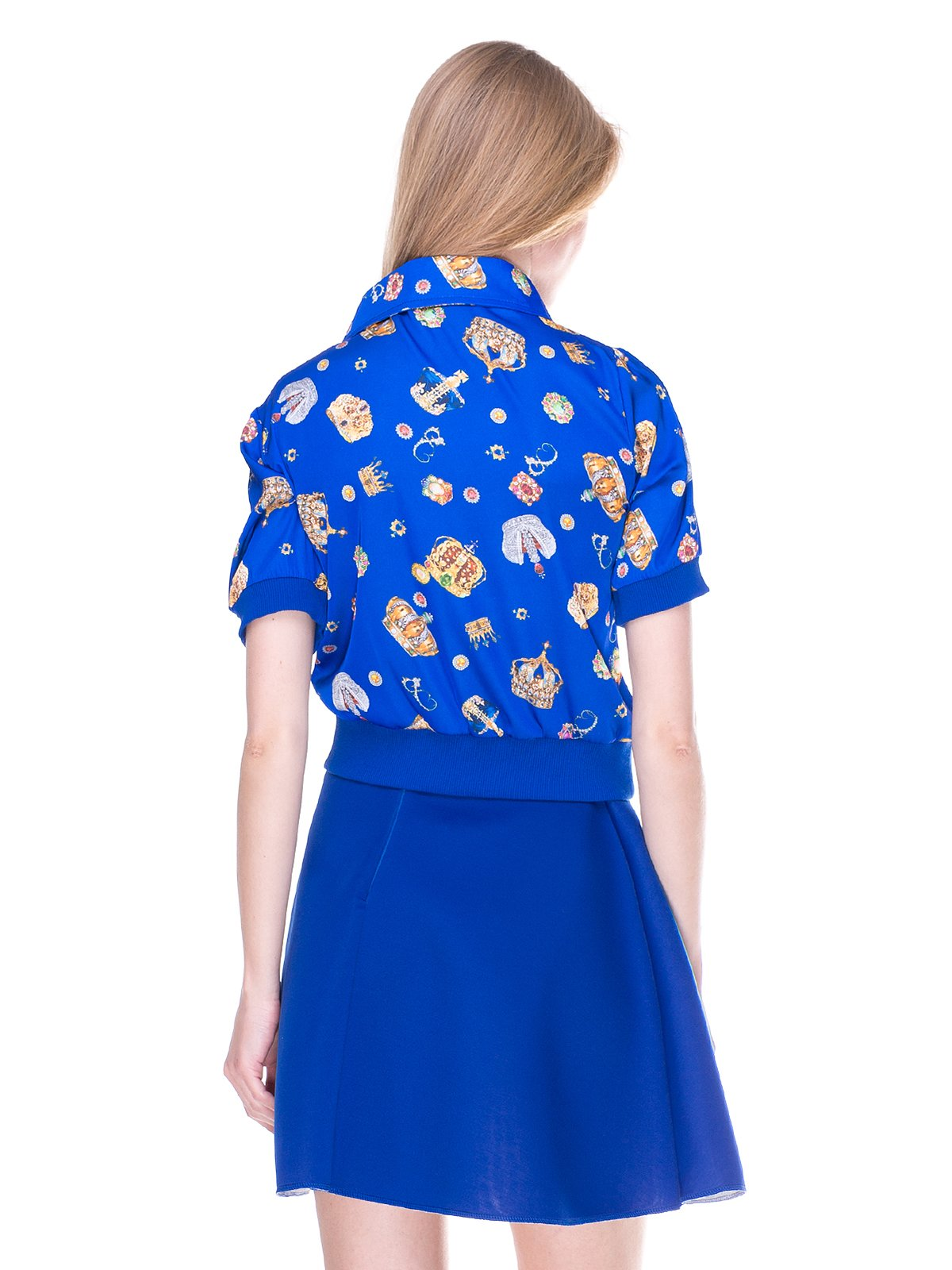 Блуза синя з принтом | 2273971 | фото 2