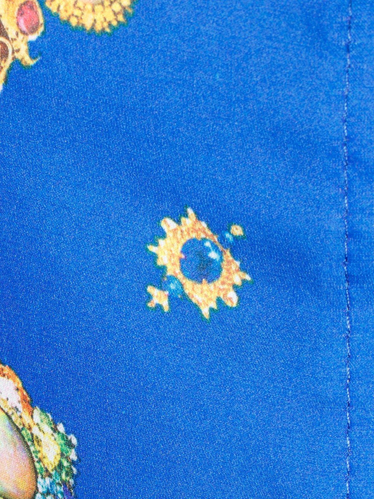 Блуза синя з принтом | 2273971 | фото 5