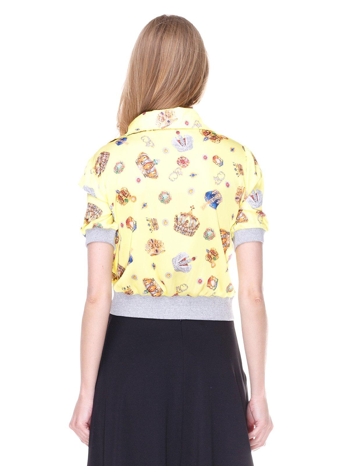 Блуза жовта з принтом | 2273964 | фото 2