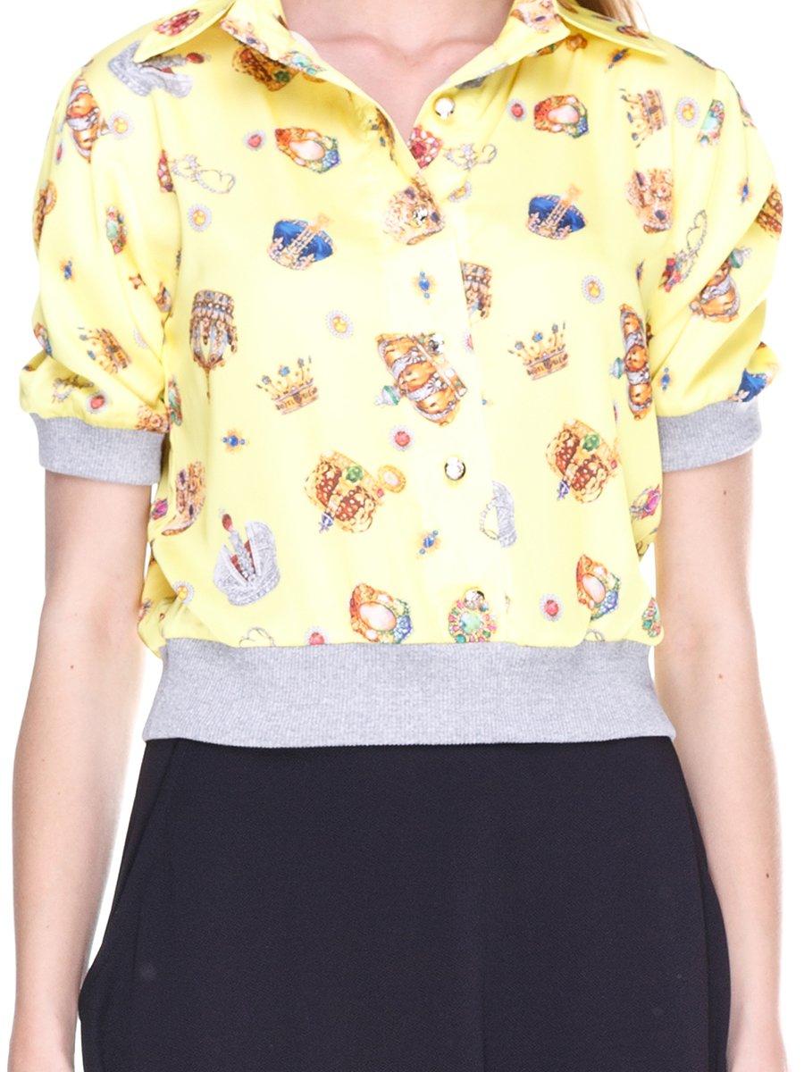 Блуза жовта з принтом | 2273964 | фото 3