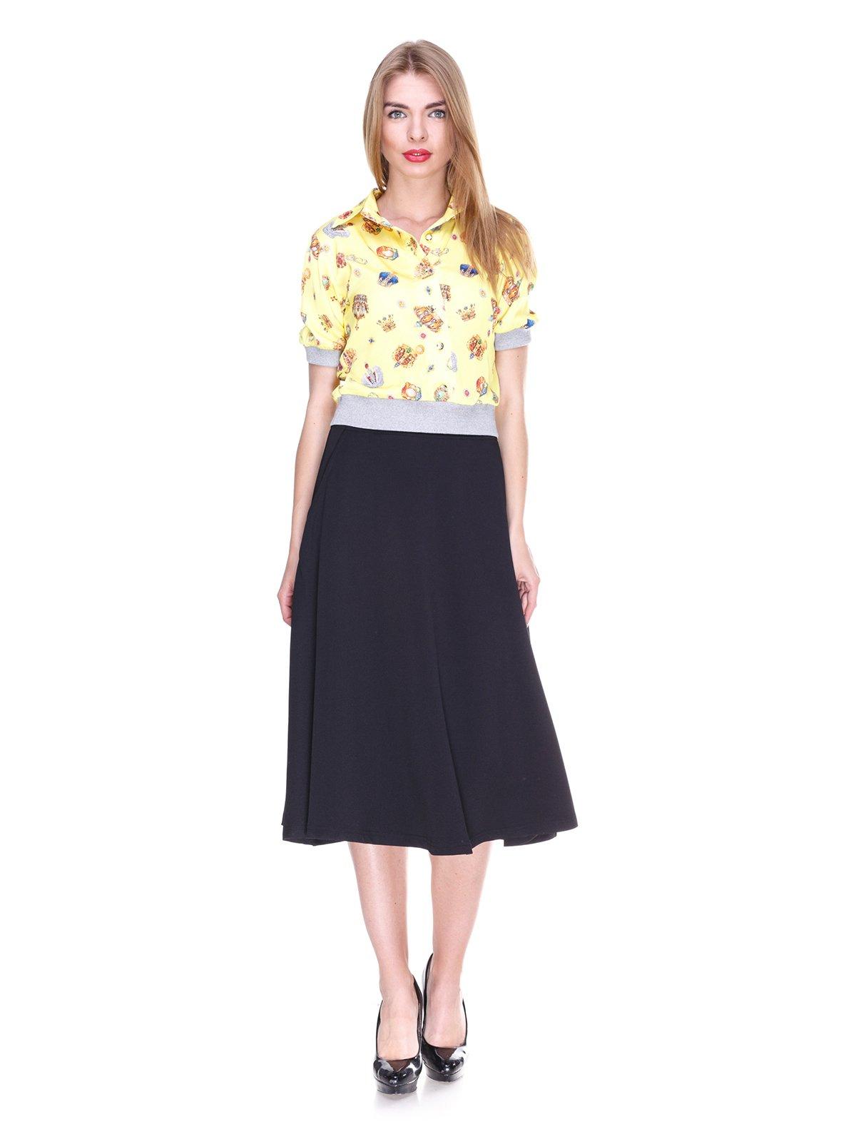 Блуза жовта з принтом | 2273964 | фото 4