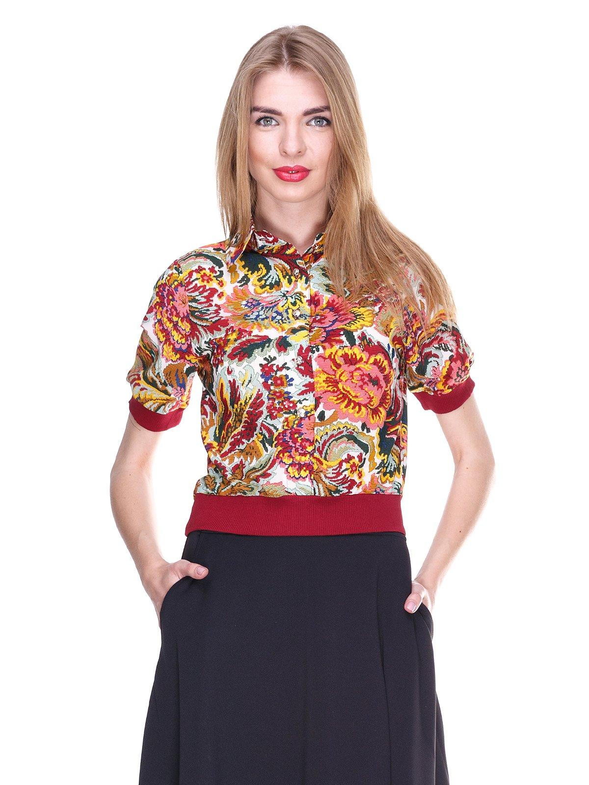 Блуза в квітковий принт | 2273968