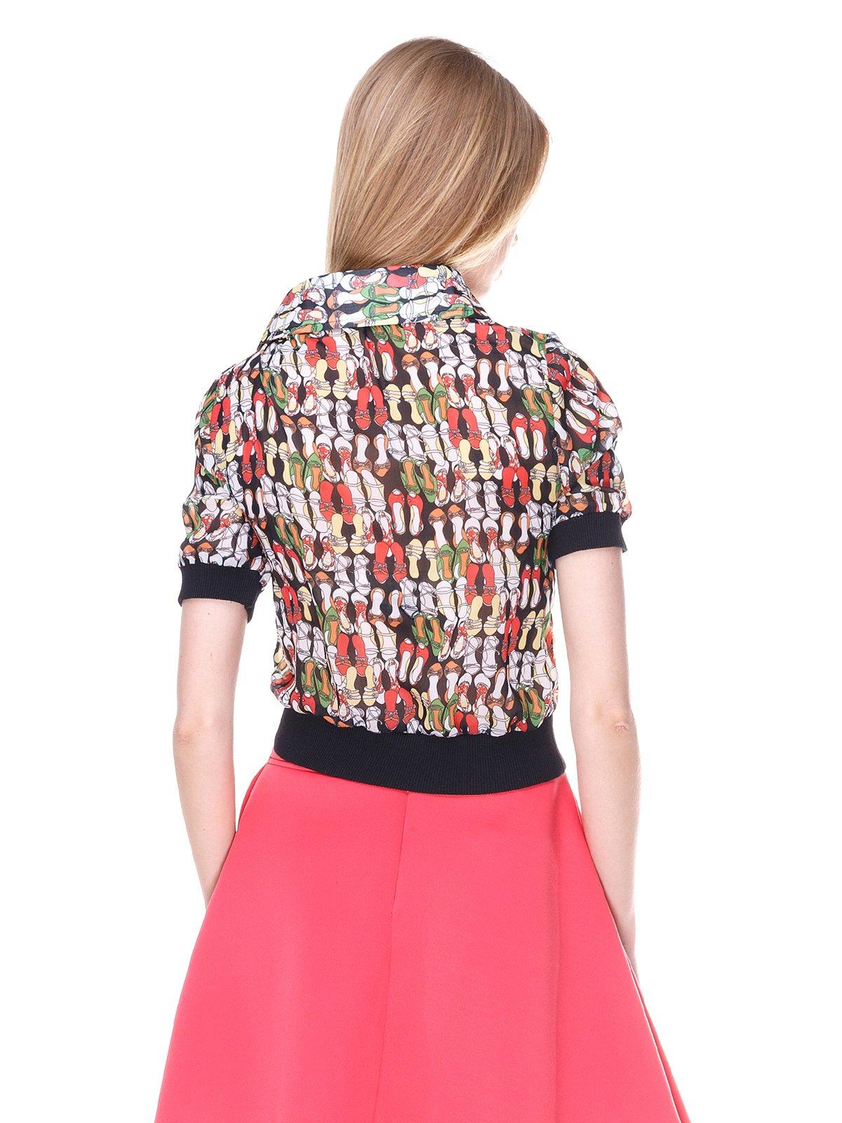 Блуза черная с принтом | 2273978 | фото 2