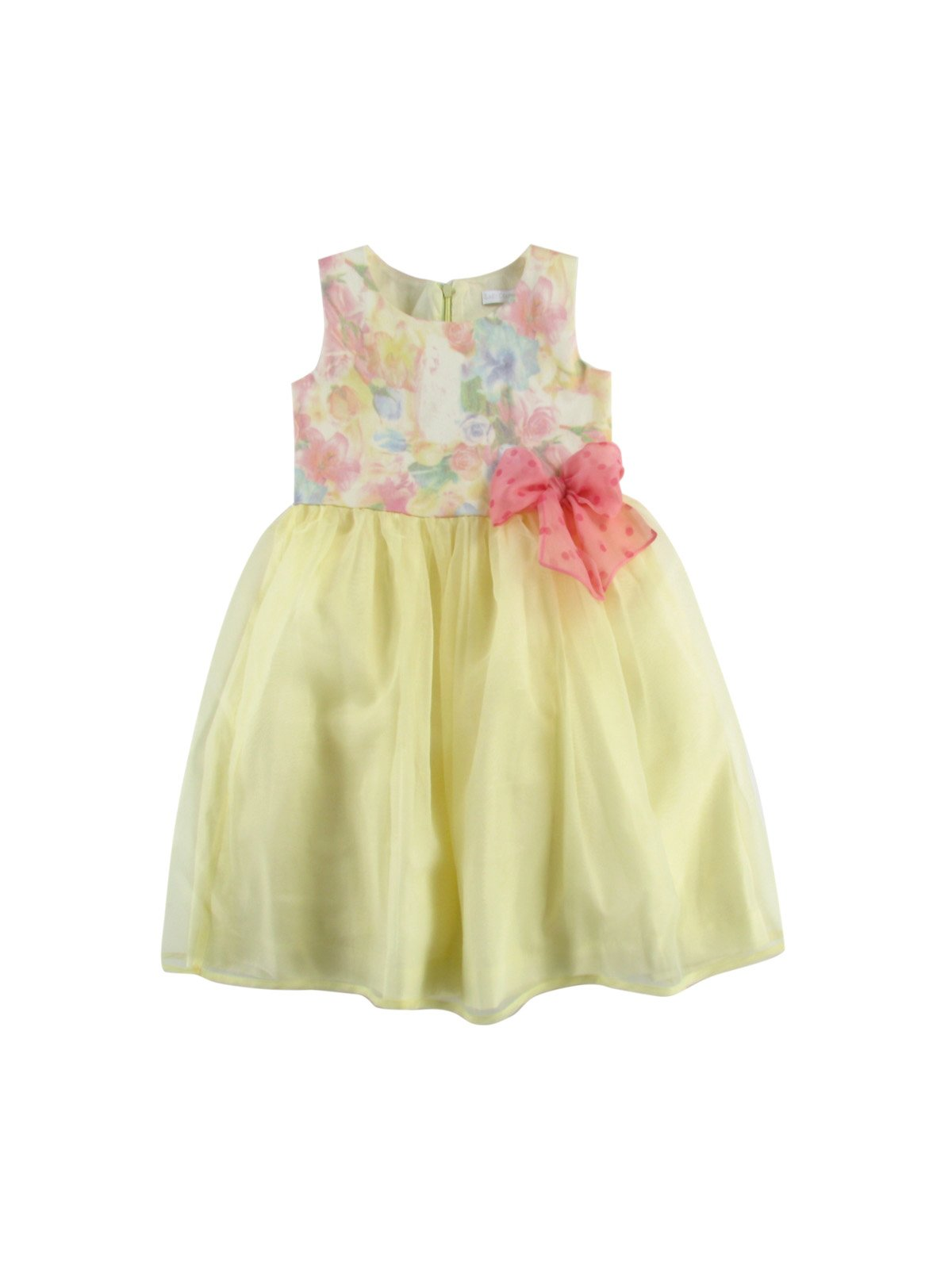 Платье желтое с цветочным принтом | 2287553