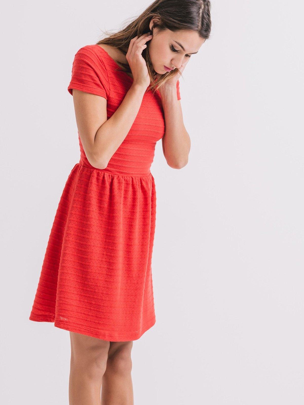 Платье кораллового цвета | 2287847