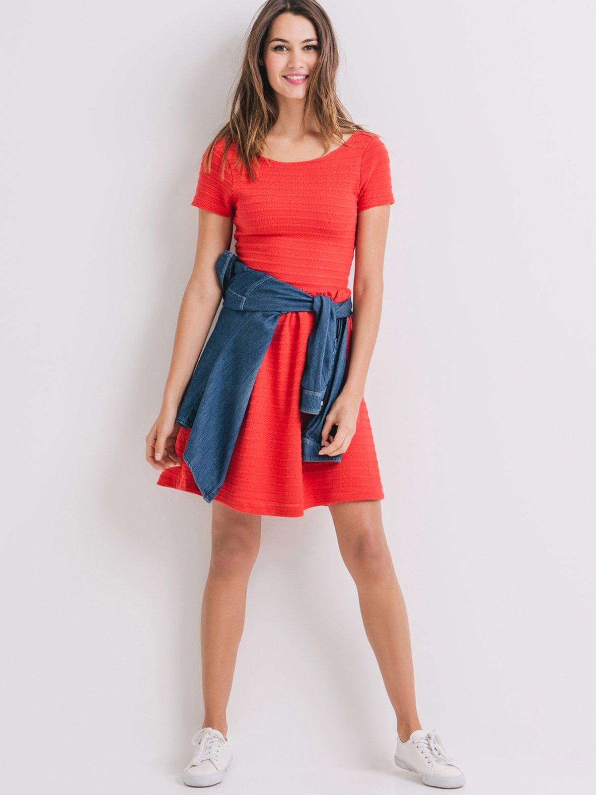 Платье кораллового цвета | 2287847 | фото 2