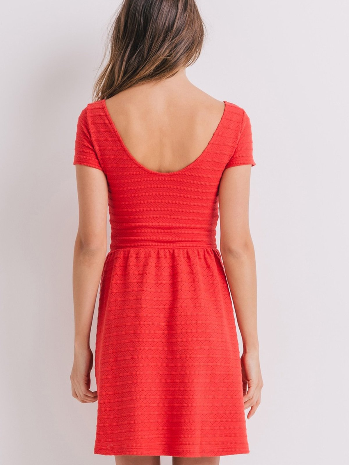 Платье кораллового цвета | 2287847 | фото 3