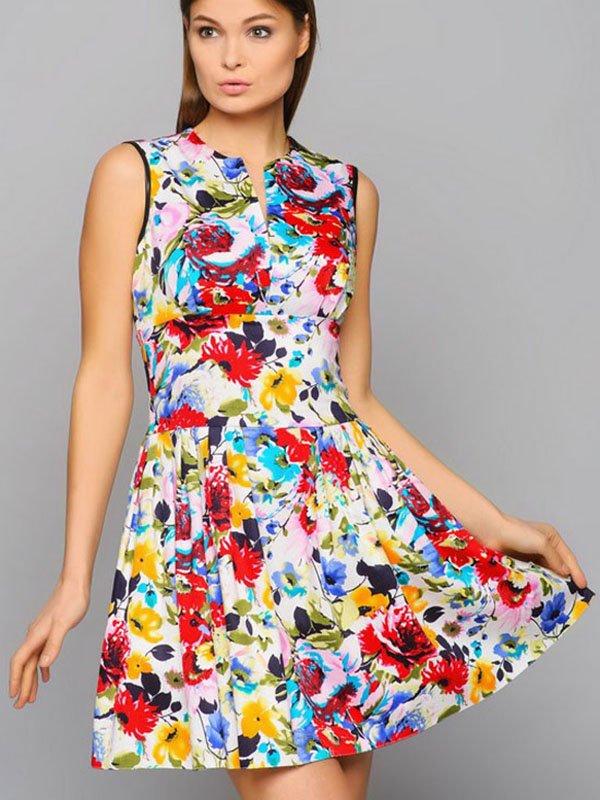 Платье цветочной расцветки | 2287828