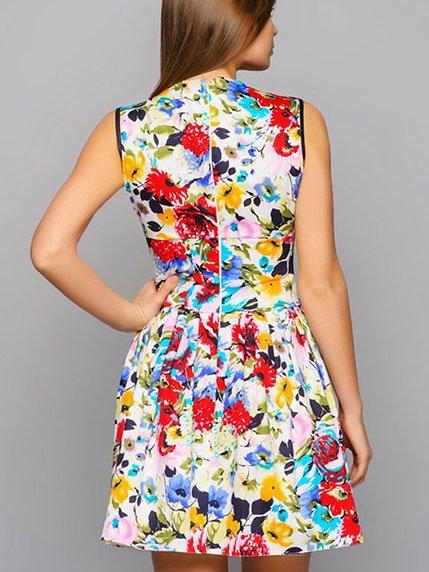 Платье цветочной расцветки | 2287828 | фото 2