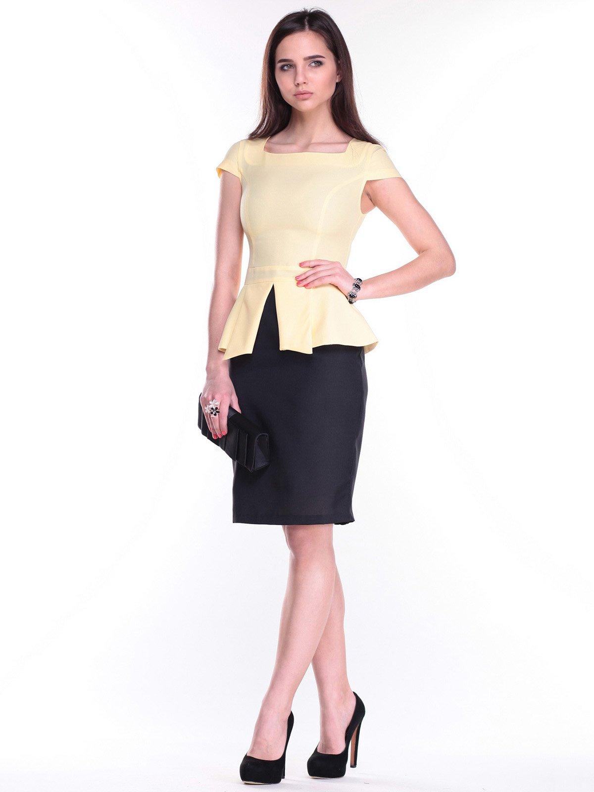 Платье желто-черное | 2299615