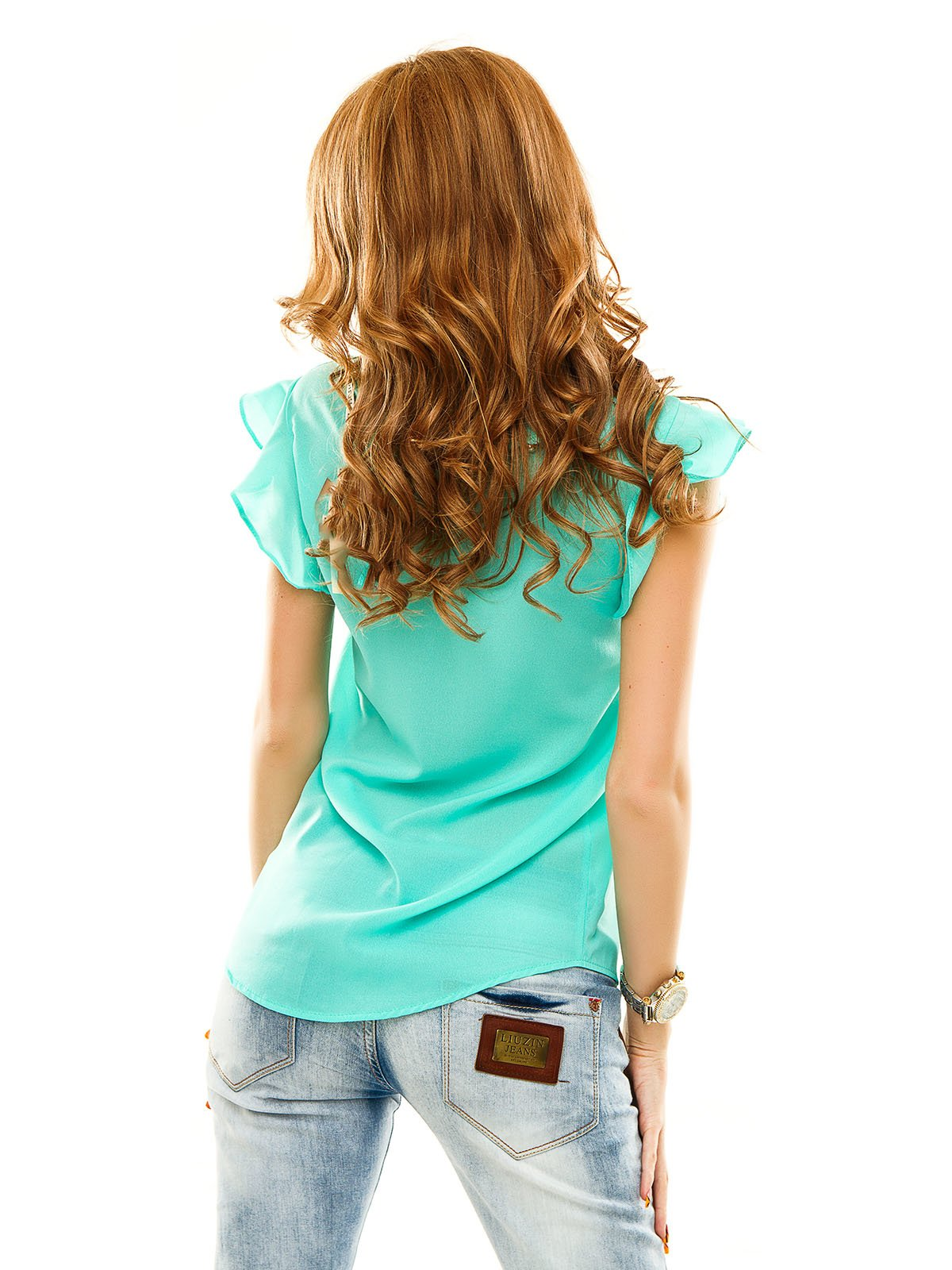 Блуза кольору м'яти | 2305396
