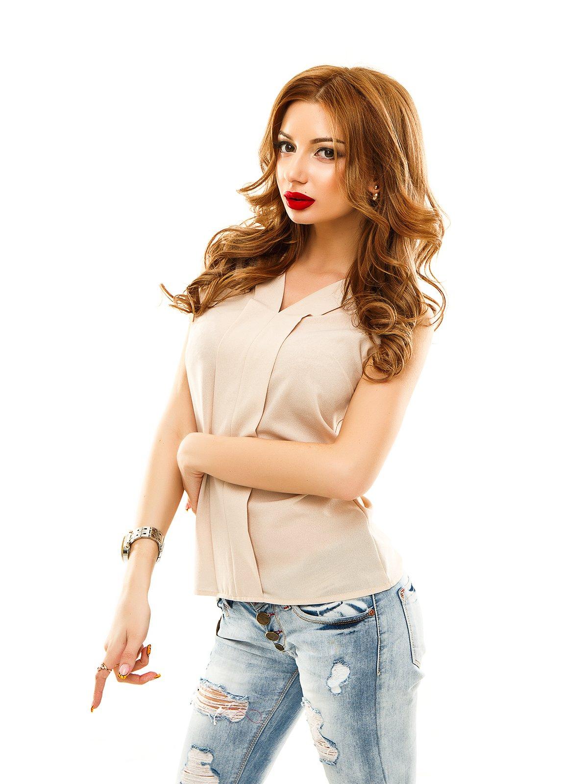 Блуза бежева | 2305416