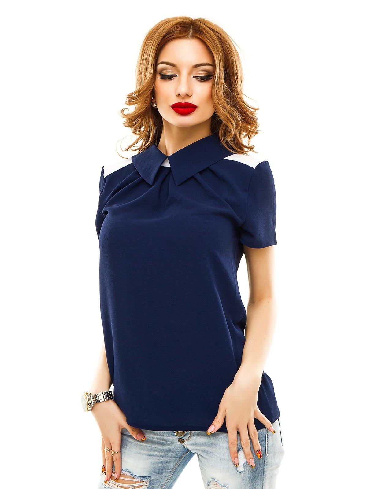 Блуза темно-синя | 2305429