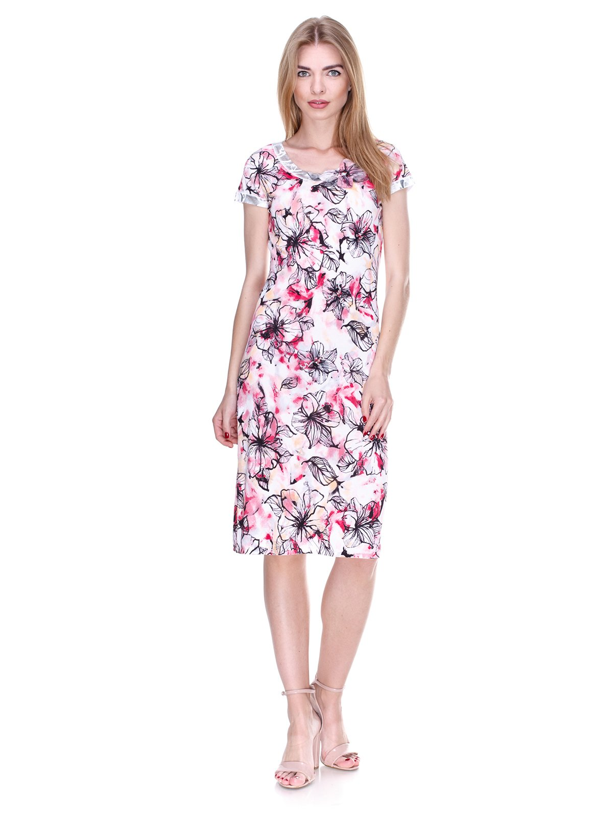 Сукня біла в квітковий принт | 2302466