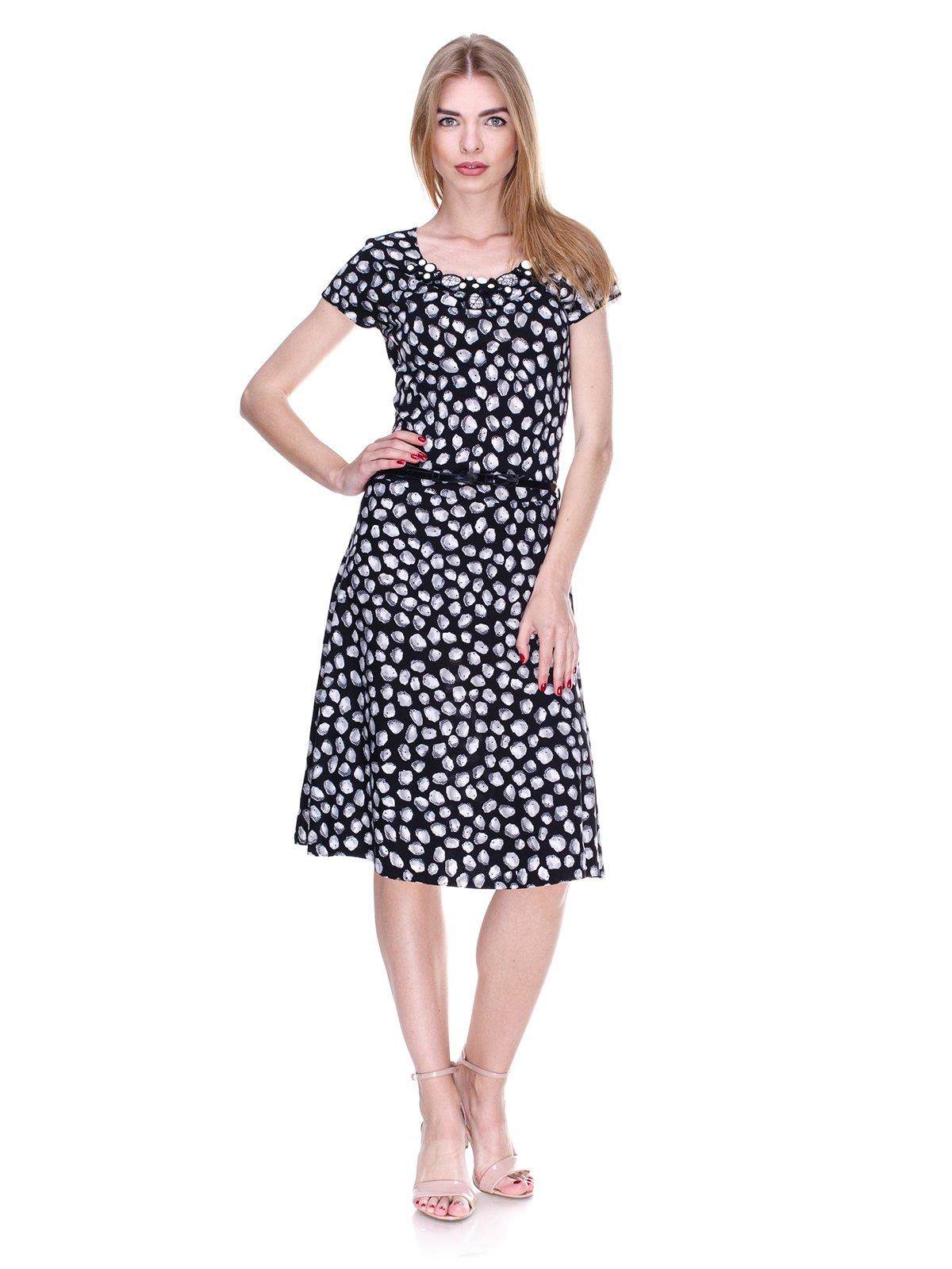 Сукня чорно-біла в принт | 2302422