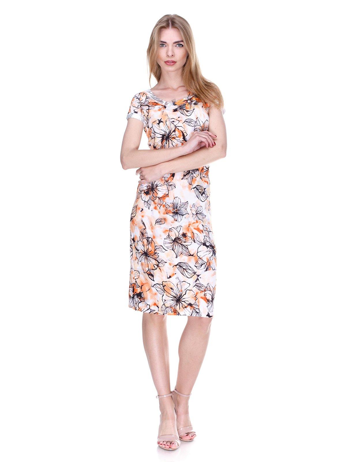Сукня біла в квітковий принт | 2302465