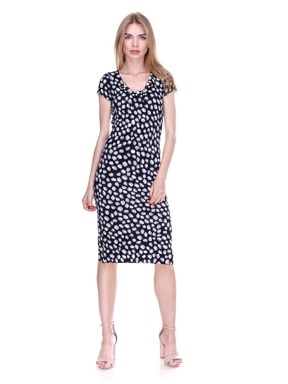 Платье черно-белое в принт   2302496