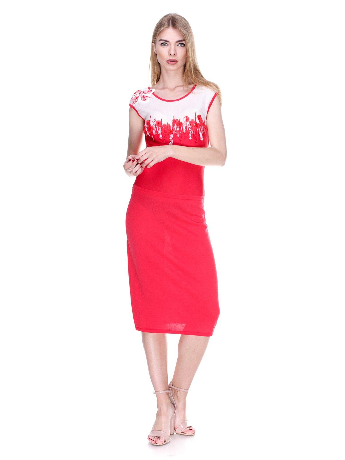 Сукня коралово-біла   2302505