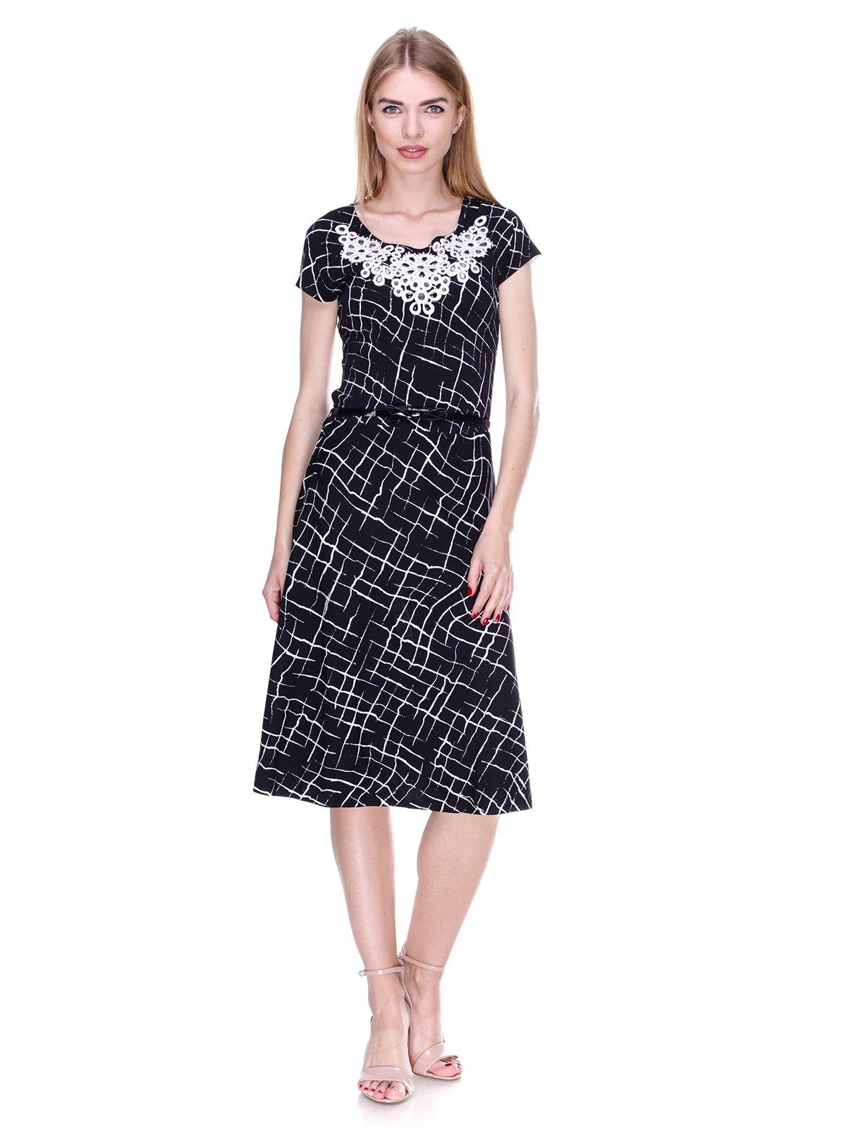 Сукня чорно-біла в принт   2302431