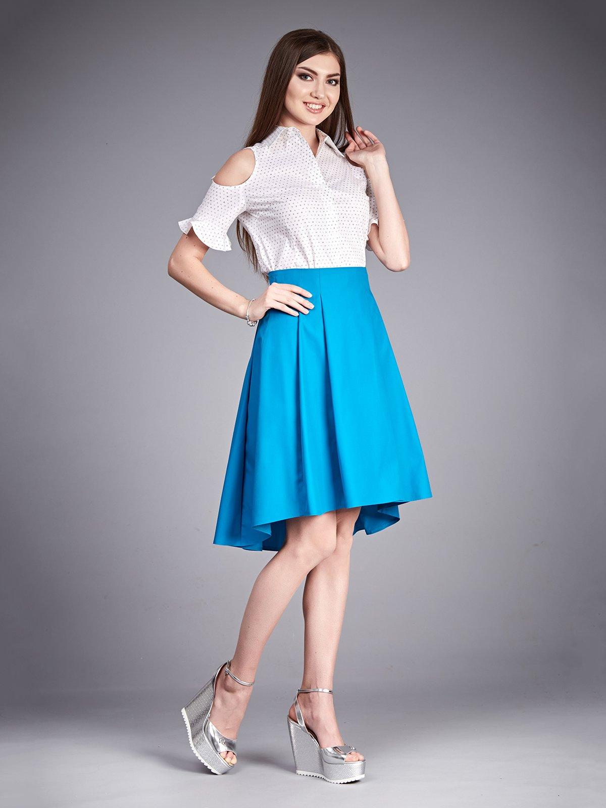 Блуза белая в принт | 2318491
