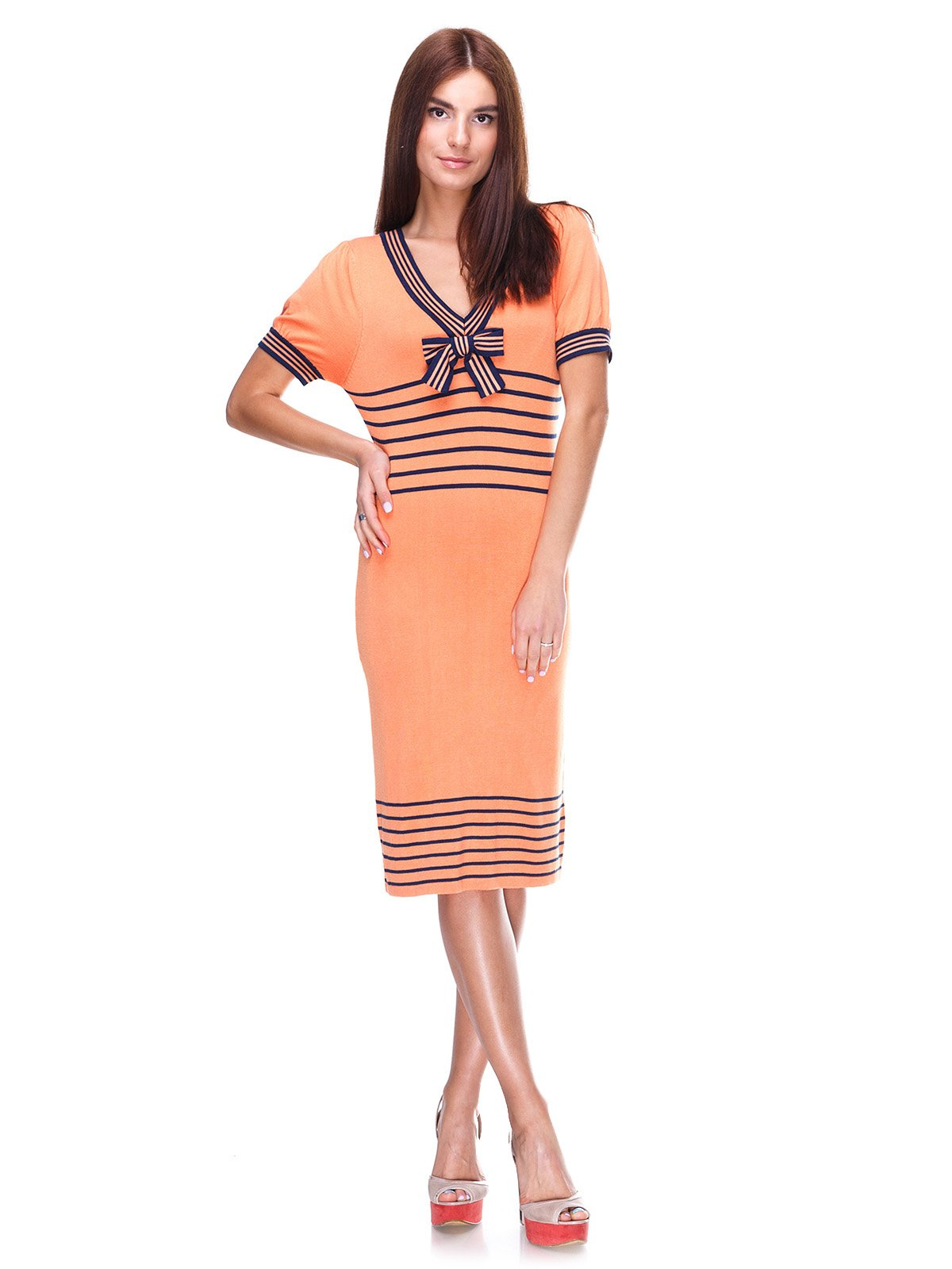 Сукня помаранчева з смужками | 2316469