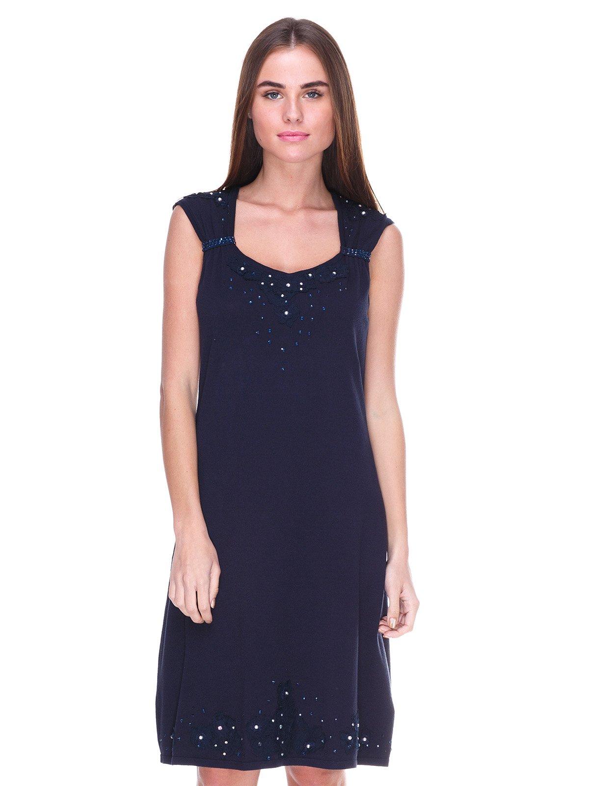 Платье темно-синее | 2316388